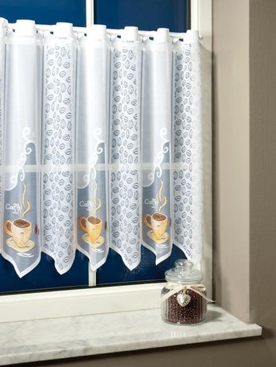 Fehér jaquard vitrage függöny, palackos/018/Cikksz:01310578