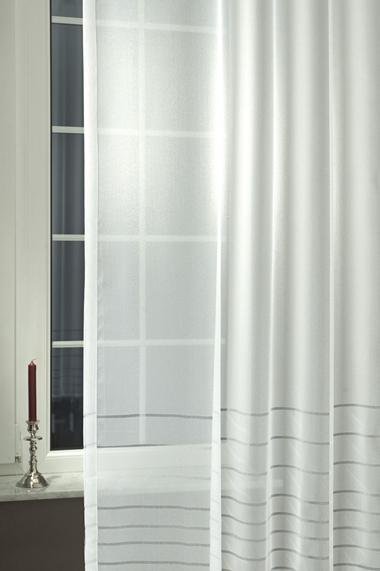 Fehér voila kész függöny zöld virág mintával/Cikksz:01151404