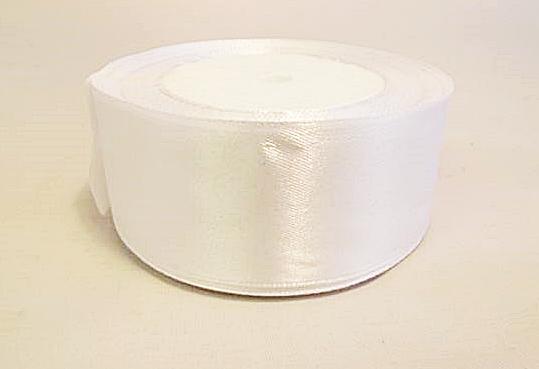 Szatén szalag fehér 4cm-s/Cikksz:150124