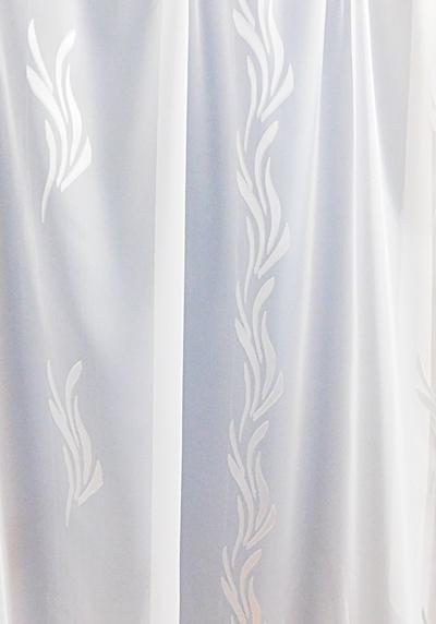 Fehér voila kész függöny fehér mintás Szirom A.C./Cikksz:01122323