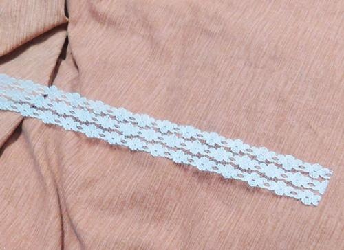 Csipke szalag fehér 4cm széles 1🧡/Cikksz:150138