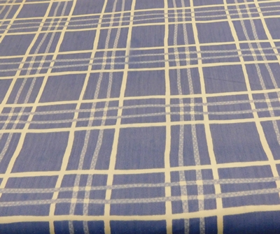 Kék kockás pamutpolieszter vászon maradék 130x140cm/Cikksz:1231499