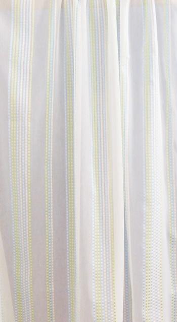 Fehér voila kész függöny zöld virág mintával/Cikksz:01150888