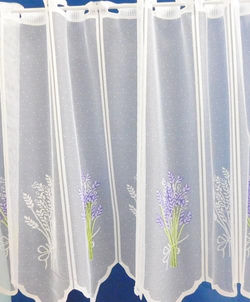 Fehér jaquard vitrage függöny Csipke 2./Cikksz:01310034