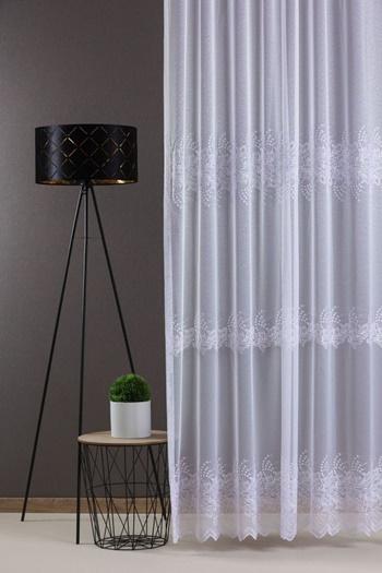 Narancs mintás organza-voila kész függöny/Cikksz:01131135