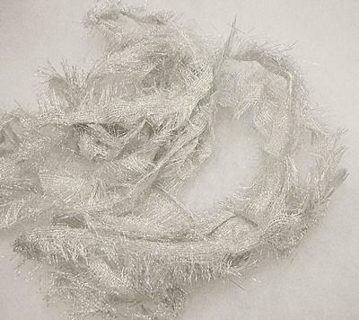 Szövött textil szél méterben, ezüstszál/Cikksz:150055