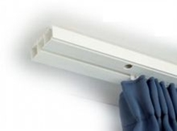 Egysoros műanyag karnis/függönysín/140cm/Cikksz:0930027