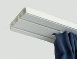 Kétsoros műanyag karnis/függönysín/160cm/Cikksz:0930034