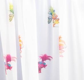Gyerekmintás voila maradék függöny fehér Póni 175x570cm széles/Cikksz:1240154