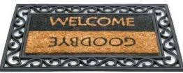 Impala gumi kókusz lábtörlő, welcome-goodbye 45x75cm/Cikksz:111074