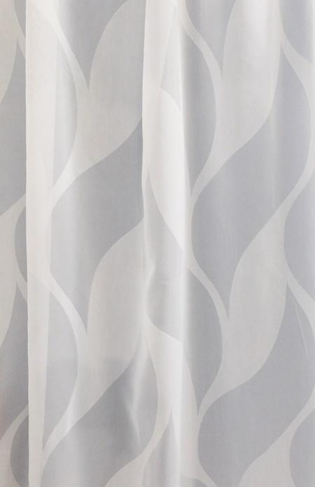 Fehér voila kész függöny zöld nyírt mintával H.A.C./160/Cikksz:01121103