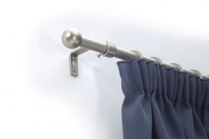 Egysoros matt-cróm rúdkarnis garnitúra, 200cm hosszú, Gömb véggel/Cikksz:0940132