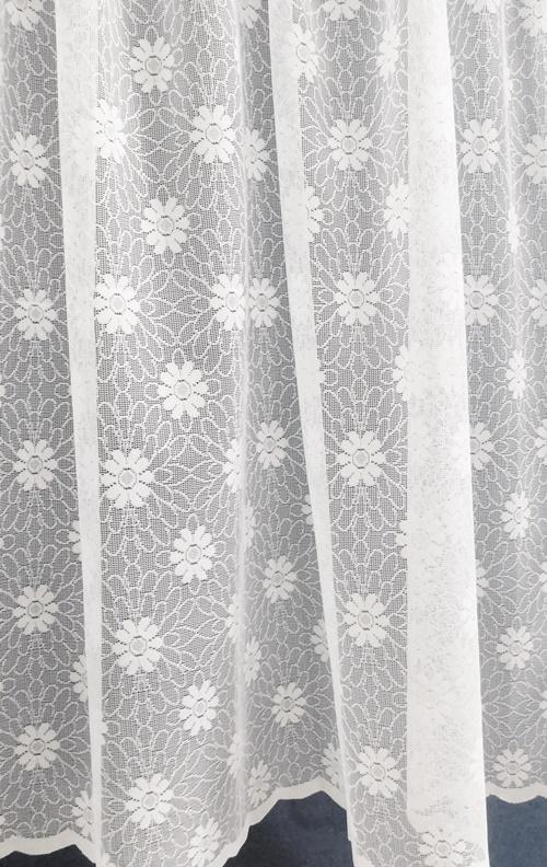 Fehér jaquard kész függöny 4104/160x120 /Cikksz:01121000