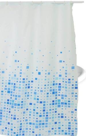 Zuhanyfüggöny kék mintás textil 180x200cm 941/Cikksz:063020