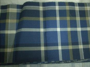 Kék kockás (sötét) pamutvászon maradék 15x250cm/Cikksz:1230861