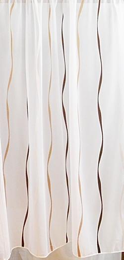 Fehér jaquard kész függöny Polly /Cikksz:01120085