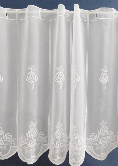 Fehér batiszt kész függöny nyírt mintával Zenit Caffe Latte 175x130cm