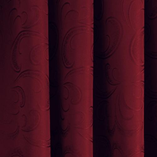Kész sötétítő függöny Donna sötétpiros 180/Cikksz:0121641