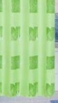 Zuhanyfüggöny zöld mintás textil 240x200cm/Cikksz:063013