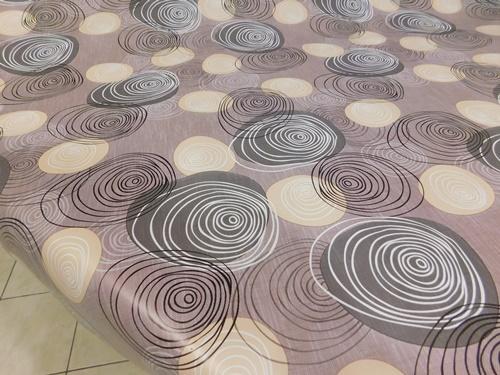 Levendulás viaszos vászon drapp alapon 160x140cm/Cikksz:02210043