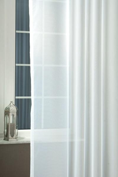 Egyszínű voila függöny méterben fehér/Cikksz:01140345