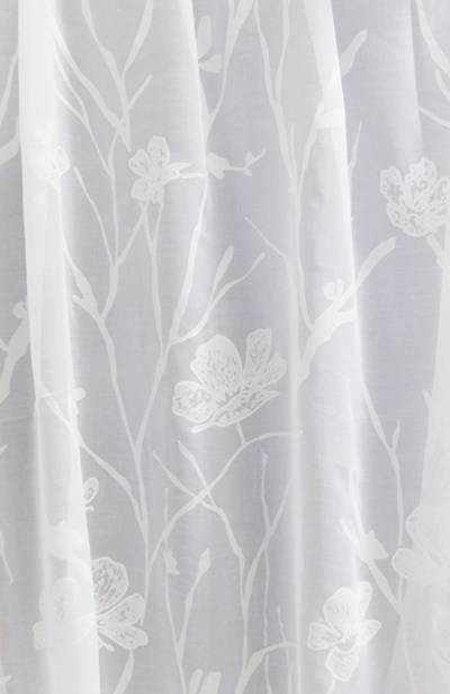 Fehér sable kész függöny drapp hullám Márta/90x160cm/Cikksz:01122032