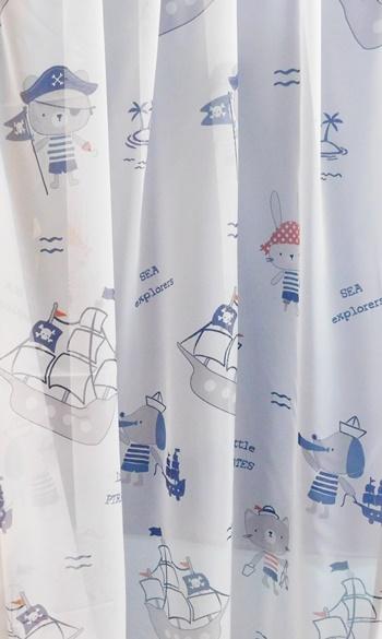 Gyerekmintás voila kész függöny fehér Póni 150x150cm/Cikksz:0710214