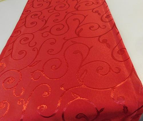 Szatén asztalközép D. sötétpiros/Cikksz:0210199