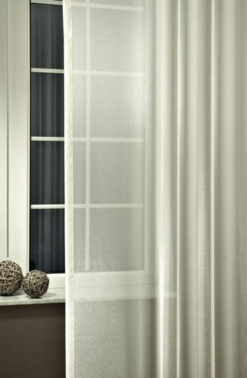 Fehér organza kész függöny ezüst nyírt mintával H2./Cikksz:01122413