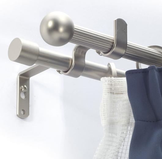 Hajlított dupla tartó 16mm-es rúdkarnishoz matt cróm/Cikksz:0940156
