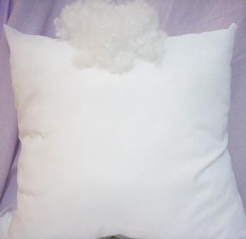 Belső párna vatelingolyócskával, pamut borítás, 35x35cm, antiallergén/Cikksz:0322033