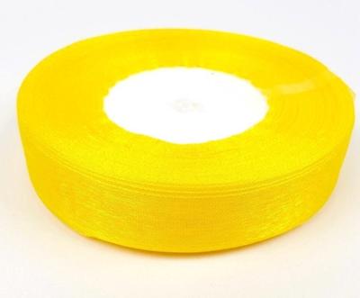 Organza szalag napsárga 2cm széles/Cikksz:150201