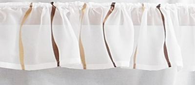 Fehér sable kész drapéria függöny konyhai mintás/Cikksz:01150067