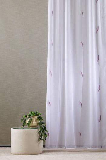Csíkos voila kész függöny fehér M./160x120cm/Cikksz:01122208