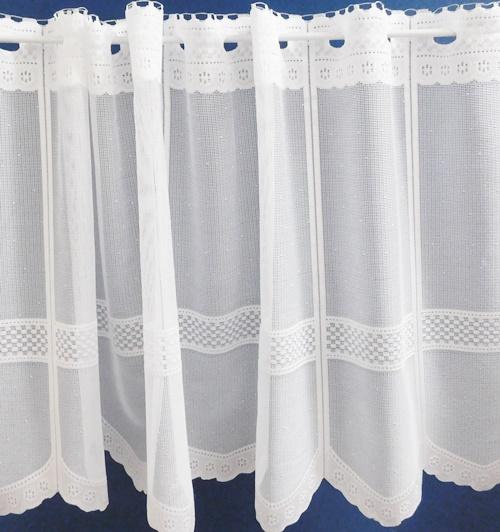Fehér jaquard vitrage függöny méterben Cafe/Cikksz:01320053