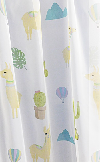 Fehér voila kész függöny gyerekmintás Bagoly/Cikkszám:0710111